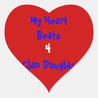 Clan Douglas Stickers Heart