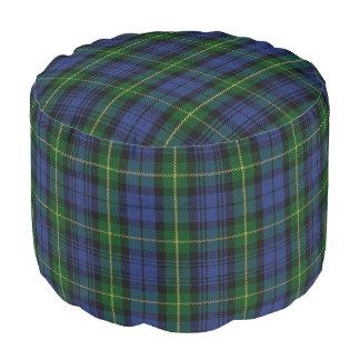 Clan Gordon Scottish Style Blue Green Tartan Pouf