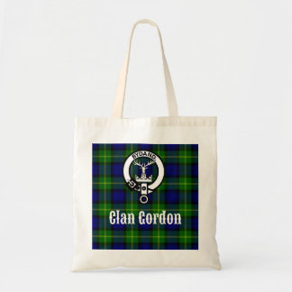 Clan Gordon Tartan Crest Tote Bag