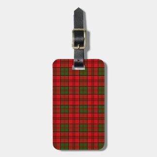 Clan Grant Tartan Luggage Tag