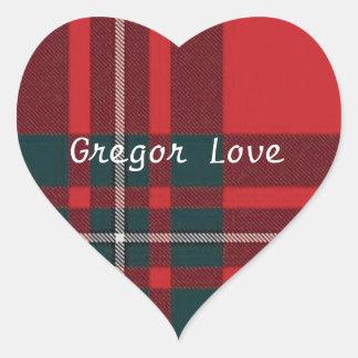 Clan Gregor Tartan Stickers