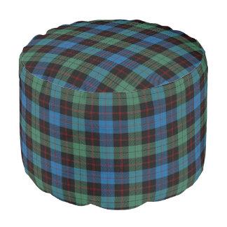 Clan Guthrie Scottish Style Blue Green Tartan Pouf