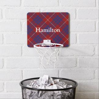 Clan Hamilton Tartan Customize Name Mini Basketball Hoop