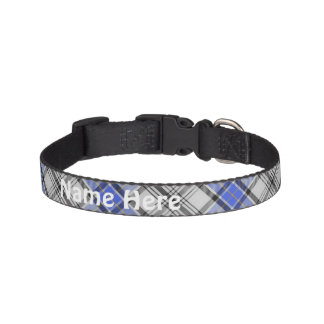 Clan Hannay Tartan Customize Pet's Name Dog Collars