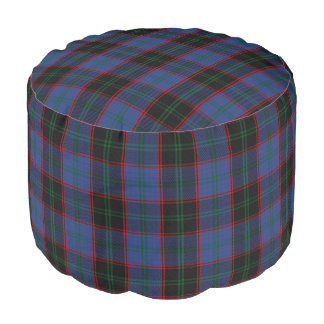 Clan Home Hume Scottish Style Tartan Pouf