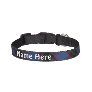 Clan Home Hume Tartan Customize Pet's Name Pet Collar