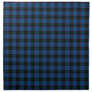 Clan Hume Royal Blue and Black Scottish Tartan Napkin