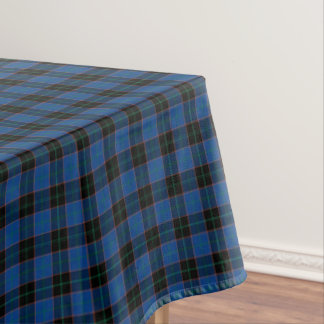Clan Hume Royal Blue and Black Scottish Tartan Tablecloth