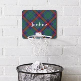 Clan Jardine Tartan Customize Name Mini Basketball Hoop