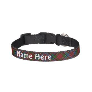 Clan Kidd Tartan Customize Pet's Name Pet Collar