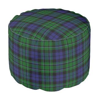Clan MacCallum Scottish Style Blue Green Tartan Pouf