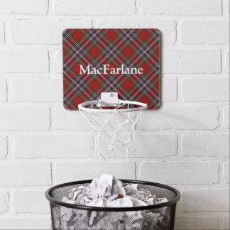 Clan MacFarlane Tartan Customize Name Mini Basketball Hoop
