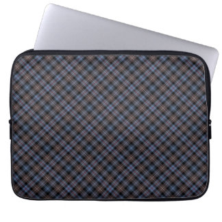 Clan Mackenzie Brown and Blue Reproduction Tartan Laptop Sleeve