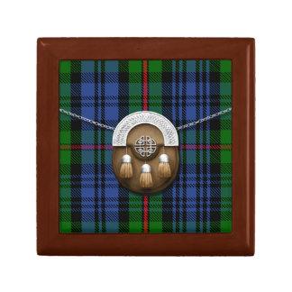 Clan MacKinlay Tartan And Sporran Small Square Gift Box