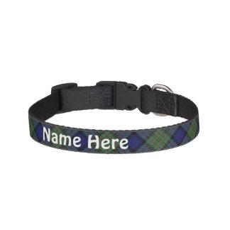 Clan MacLaren Tartan Customize Pet's Name Pet Collar