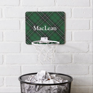 Clan MacLean Tartan Customize Name Mini Basketball Hoop