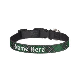 Clan MacLean Tartan Customize Pet's Name Pet Collar