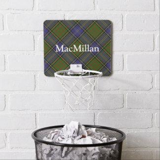 Clan MacMillan Tartan Customize Name Mini Basketball Hoop