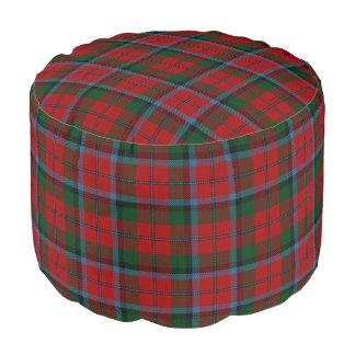 Clan MacNachtan Scottish Style Red Green Tartan Pouf
