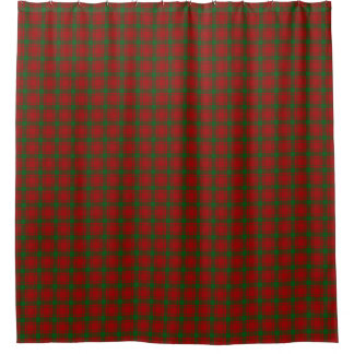 Clan MacQuarrie Classic Red Green Scottish Tartan Shower Curtain
