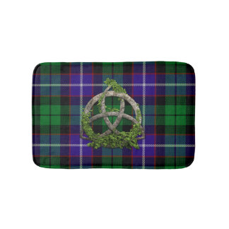 Clan Mitchell Tartan Celtic Trinity Bath Mat