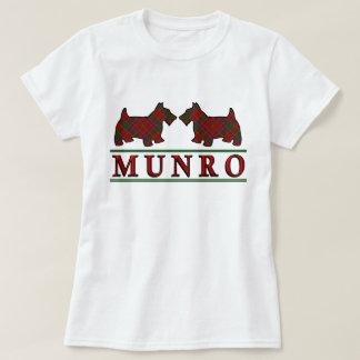 Clan Munro Tartan Scottie Dogs T-Shirt