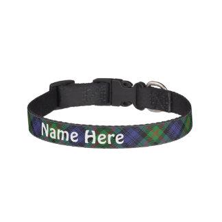 Clan Murray Tartan Customize Pet's Name Pet Collar