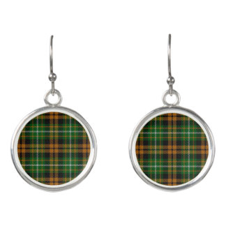 Clan Ramsay Ramsey Orange Hunting Tartan Plaid Earrings