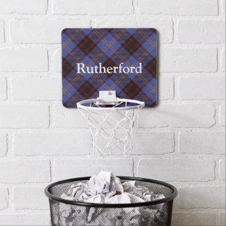Clan Rutherford Tartan Customize Name Mini Basketball Hoop