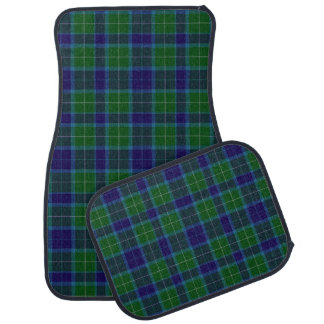 Clan Wallace Plaid Car Mat Set