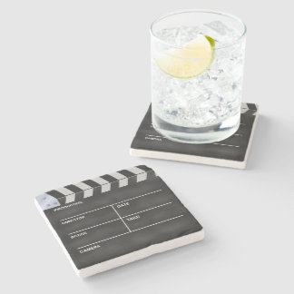Clapperboard cinema stone beverage coaster