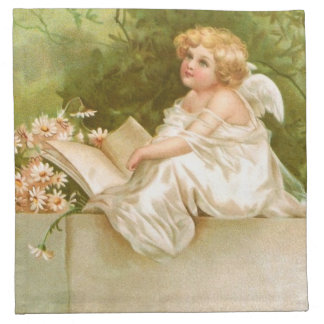 Clapsaddle: Angel with Book and Flowers Napkin