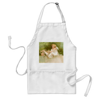 Clapsaddle: Angel with Book and Flowers Standard Apron