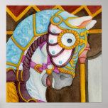 Clara Carousel Horse Print