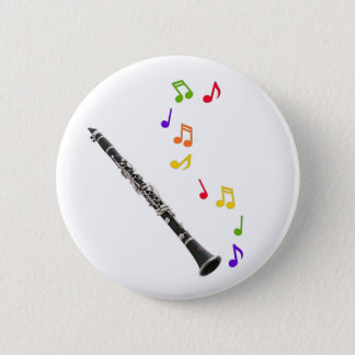 Clarinet Colorful Music 6 Cm Round Badge