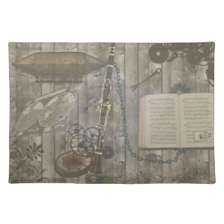 Clarinet Steampunk Fantasy Placemat