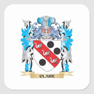 Clark Coat of Arms - Family Crest Square Sticker