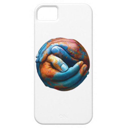 Clasped Hands Forming Planet Earth World Peace iPhone 5 Cover