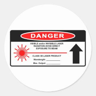 Class 3B Laser Warning Sticker