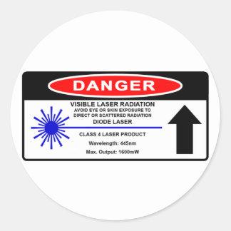 Class 4 445nm Laser Warning Sticker