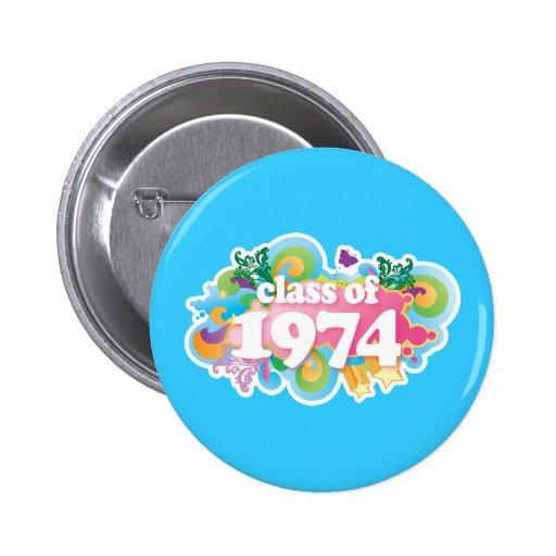 Class of 1974 button