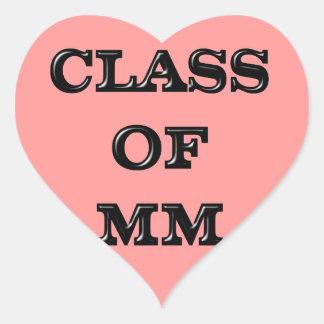 Class of 2000 heart sticker