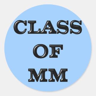 Class of 2000 round sticker