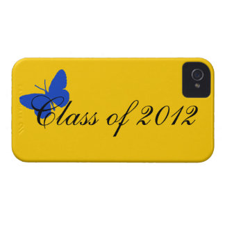 Class of 2012 - Blue and Gold Butterfly iPhone 4 Case-Mate Cases