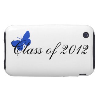 Class of 2012 - Blue Butterfly iPhone 3 Tough Cases