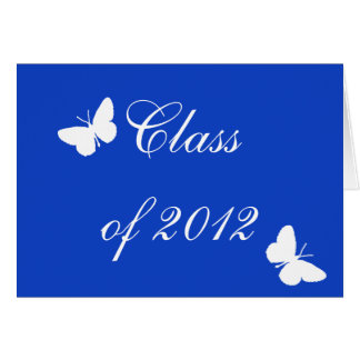 Class of 2012 - Blue Butterfly Note Card