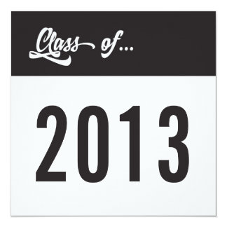 Class of 2013 Grad Invitation Clean Simple Script