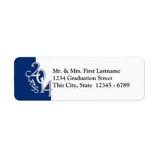 Class of 2014 Blue Graduation Return Address Label