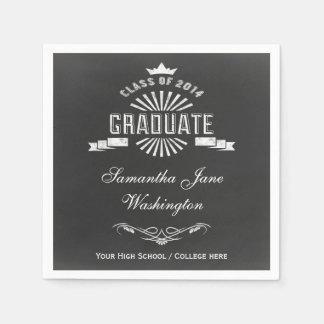 Class of 2014 Chalkboard Graduation Paper Napkin