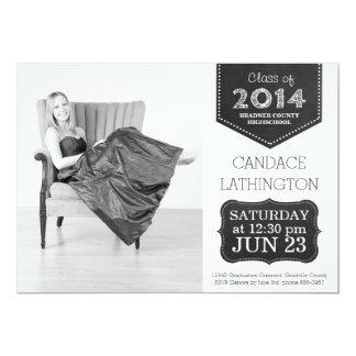 Class of 2014 Chalkboard Photo Graduation Card